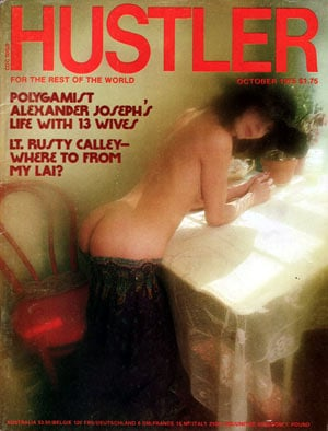 Hustler October 1975 magazine back issue Hustler magizine back copy hustler magazine back issues, amazing ladies nude, star interviews, adult comics, larry flynt,  1975