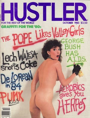 Hustler October 1983 magazine back issue Hustler magizine back copy hustler magazine back issues, amazing ladies nude, star interviews, adult comics, larry flynt,  1983