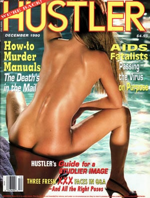 Hustler December 1990 magazine back issue Hustler magizine back copy hustler magazine back issues, amazing ladies nude, star interviews, adult comics, larry flynt,  1990