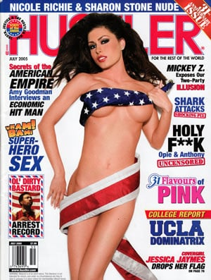 Hustler July 2005 magazine back issue Hustler magizine back copy hustler magazine back issues, amazing ladies nude, star interviews, adult comics, larry flynt,  2005