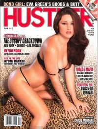 Hustler Year 2012 magazine back issue Hustler June 2012 Three 6 Mafia,Nyomi Banxxx Conquers the World,Retro Porn: Cafe Flesh, Sexworld,The Occupy Crackdown