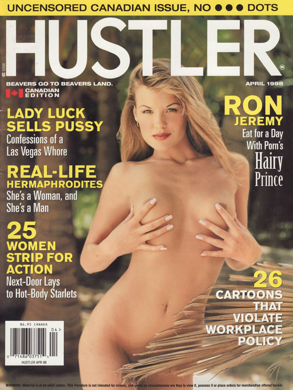 Hustler Canada April 1998 magazine back issue Hustler Canada magizine back copy hustler magazine canadian edition no4 1998 xxx nude women beaver hunt ron jeremy pussy pics naughty
