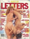 Hustler Letters March 1989 magazine back issue cover image
