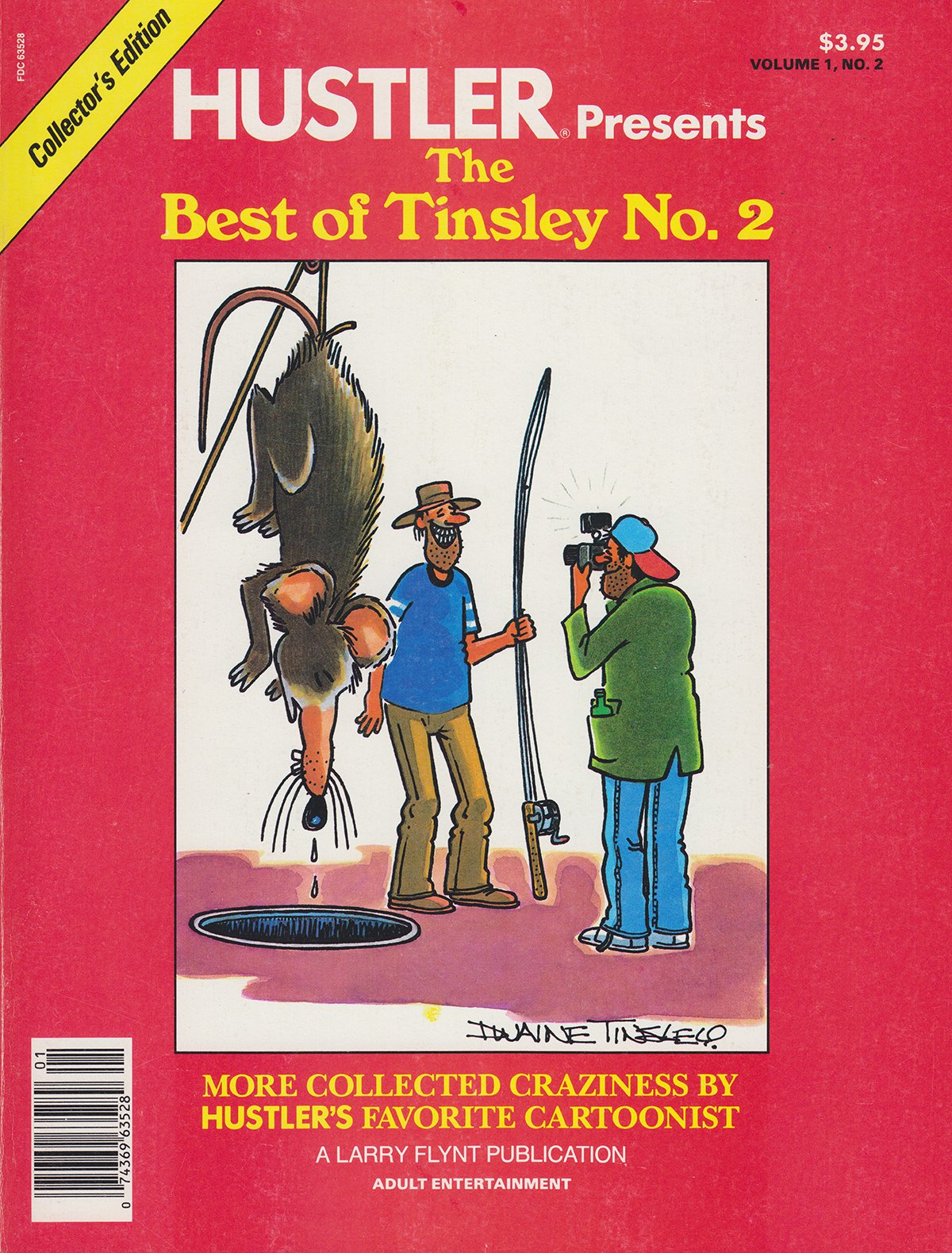 Hustler Presents The Best of Tinsley # 2 magazine back issue Hustler Presents magizine back copy