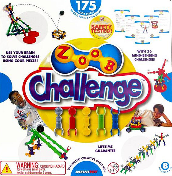 zoob challenge kit with 26 mind-bending challenges 175 zoob pieces by infinitoy zoob-challenge