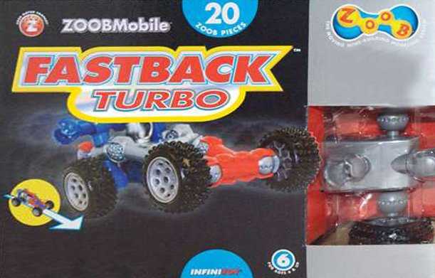zoobmobile fastback turbo kit with 20 zoob pieces by infinitoy zoobmobile-fastback-turbo