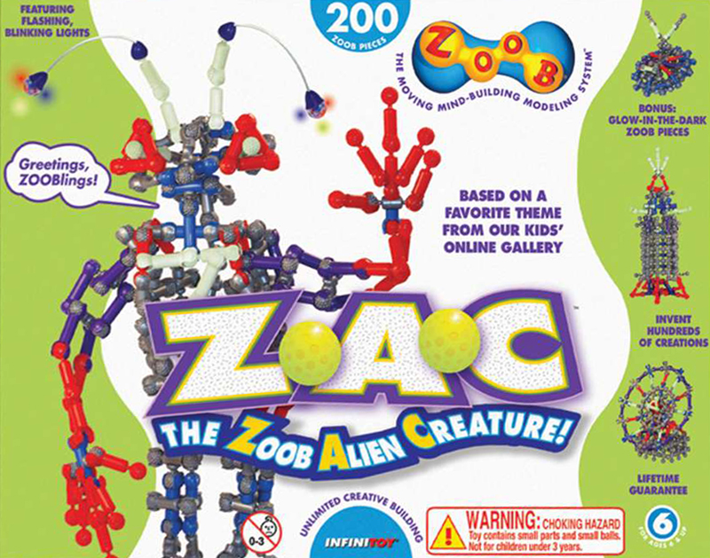 zoob the alien creature Z.A.C. invent hundreds of creations 200 zoob pieces by infinitoy zoob-the-alien-creature