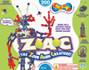 zoob-the-alien-creature,zoob the alien creature Z.A.C. invent hundreds of creations 200 zoob pieces by infinitoy