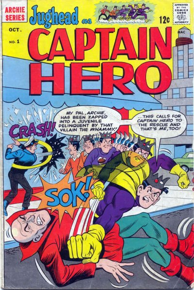 Jughead as Captain Hero Comic Book Back Issues by A1 Comix
