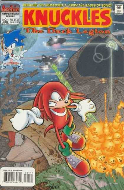 Knuckles the Echidna Comic Book Back Issues by A1 Comix