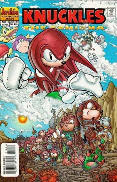 Knuckles the Echidna comic book back issue comicbook back copy