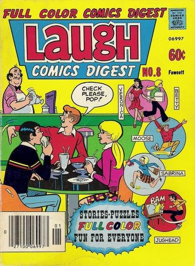 Laugh Digest comic book back issue comicbook back copy