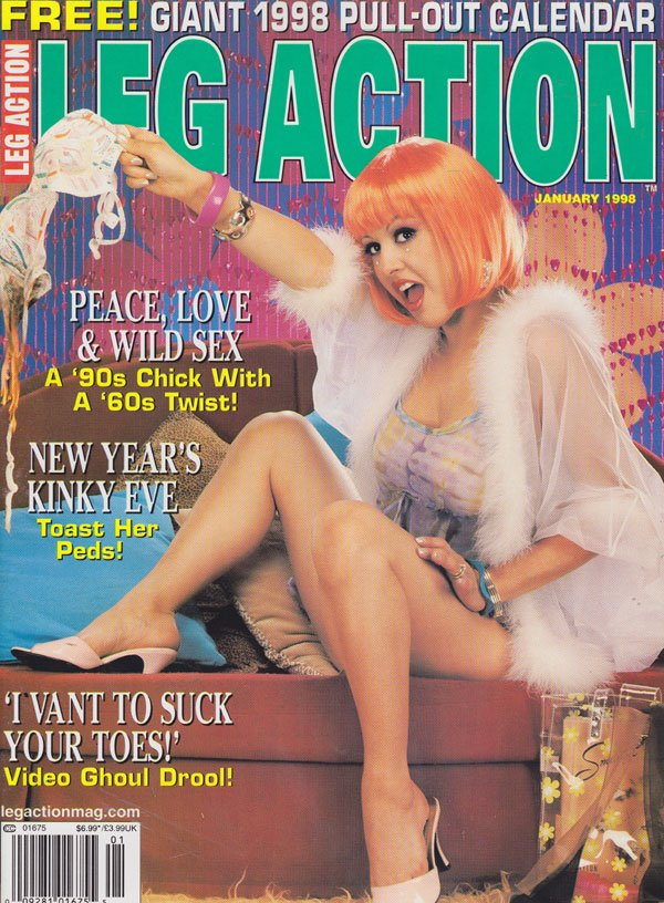 Leg Action January 1998 magazine back issue Leg Action magizine back copy leg action magazine 1998 back issues new year special hot kinky pics legs toes lewd pictorials xxx s