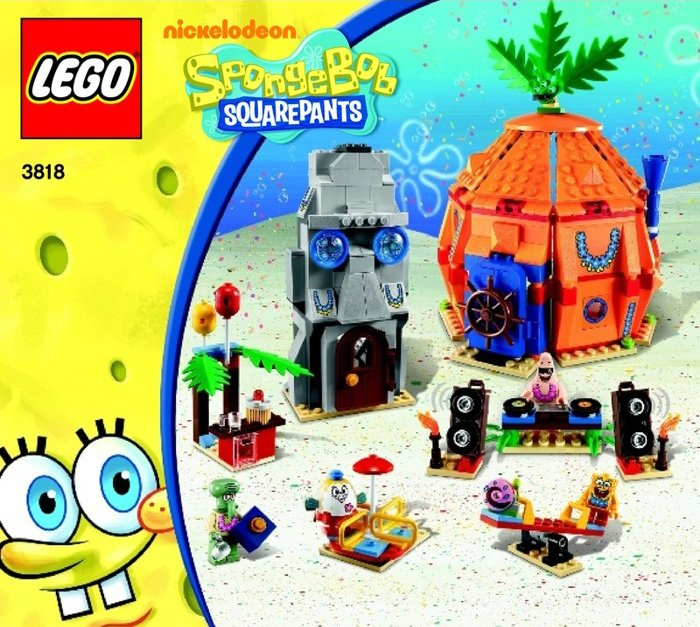 lego spongebob squarepants Bikini Bottom Undersea Party Set 471 pieces of lego blocks lego-bikini-bottom-party