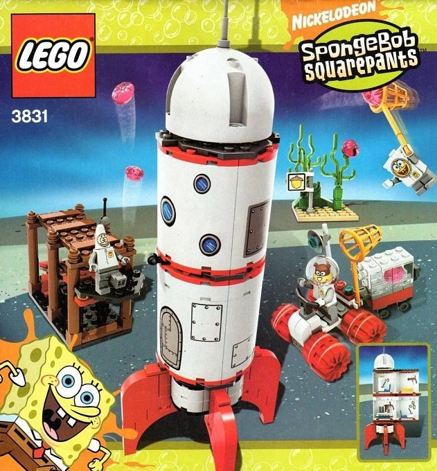 lego spongebob squarepants rocket ride 279 pieces of lego blocks lego-creator-rocket-ride
