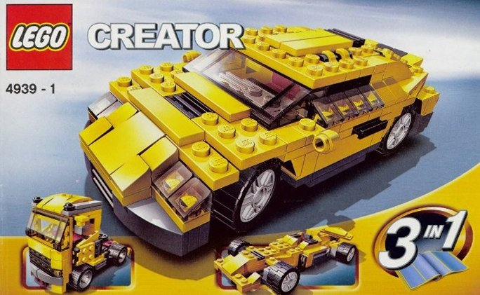 lego creator cool cars 206 pieces of lego blocks lego-creator-cool-cars