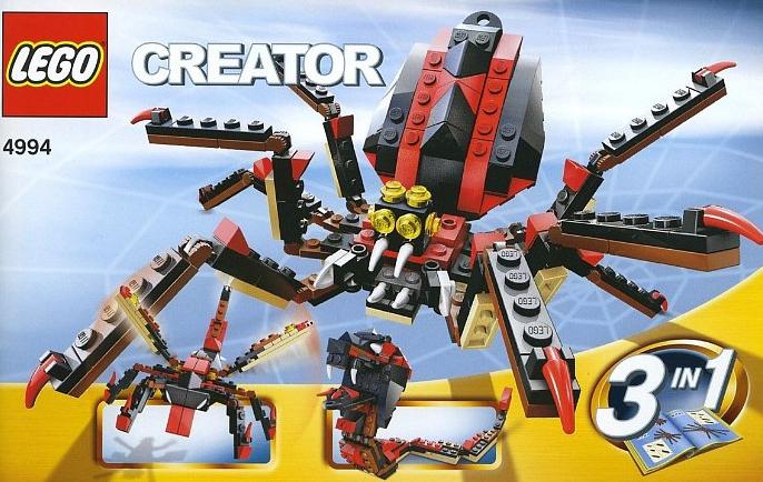 lego creator fierce creatures spiders 193 pieces of lego blocks lego-creator-fierce-creatures