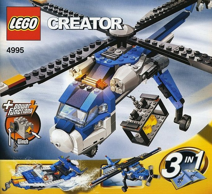 lego creator cargo copter helicoper 272 pieces of lego blocks lego-creator-cargo-copter