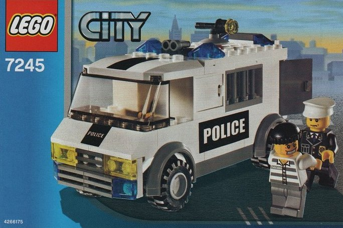 lego city police prisoner transport 98 pieces of lego blocks lego-city-prisoner-transport