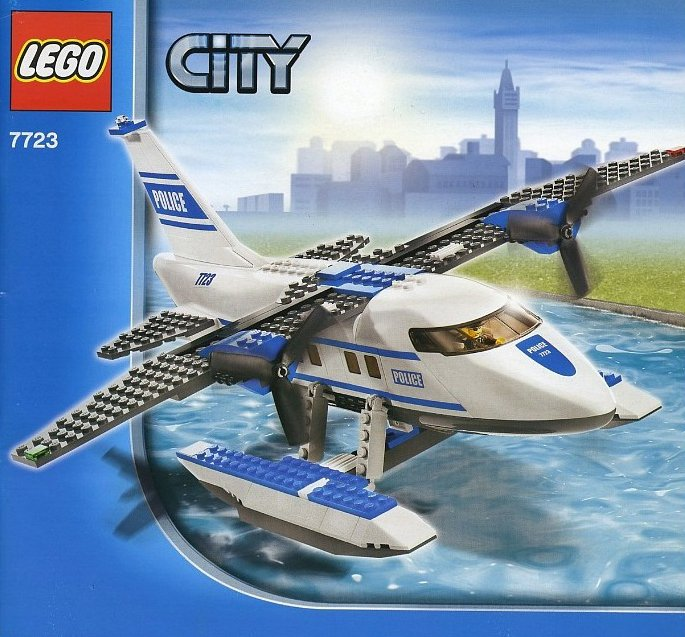 lego city police pontoon plane 215 pieces of lego blocks lego-city-police-pontoon-plane