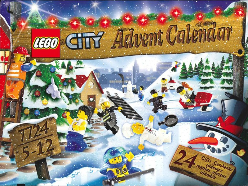 lego city advent calendar 2008 7724 196 pieces of lego blocks lego-city-advent-calendar-7724