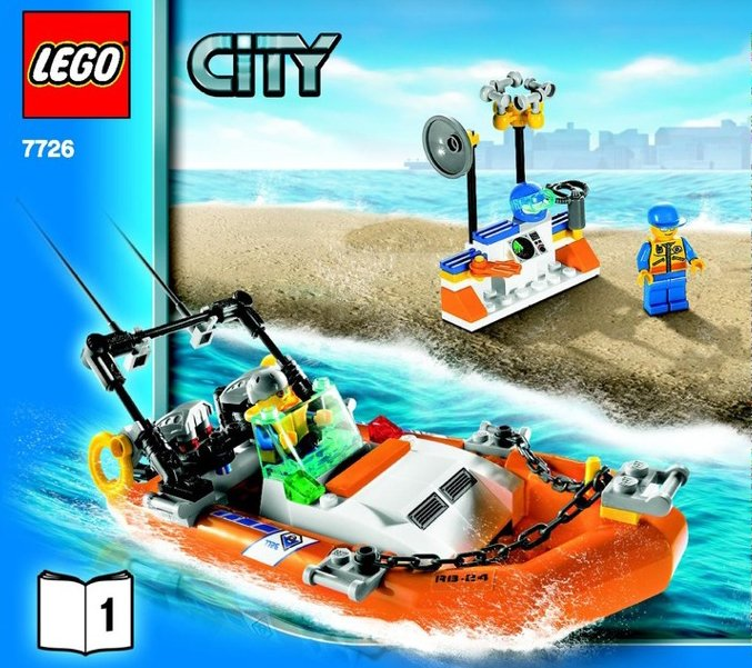 lego city police coast guard truck and speed boat 361 pieces of lego blocks lego-city-police-coast-guard-speedboat