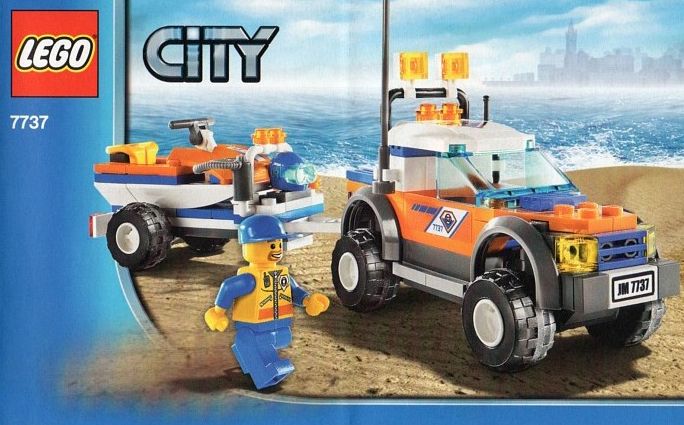 lego city police off road vehicle and jet scooter 130 pieces of lego blocks lego-city-police-off-road-vehicle