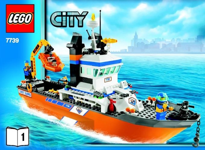 lego city police coast guard patrol boat and tower 444 pieces of lego blocks lego-city-police-coast-guard-patrolboat