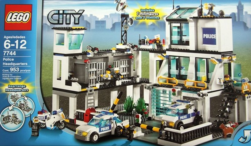 lego city police headquarters 953 pieces of lego blocks lego-city-police-headquarters