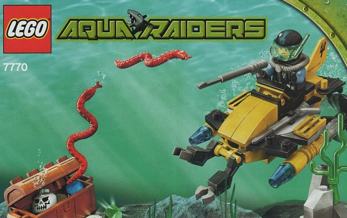 lego aqua raiders Deep Sea Treasure Hunter Set 75 pieces of lego blocks lego-deep-sea-treasure-hunter