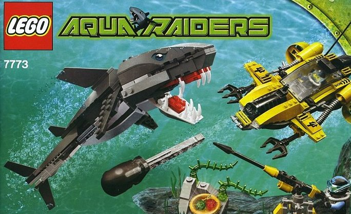 lego aqua raiders tiger shark attack 339 pieces of lego blocks lego-aquaraiders-tiger-shark