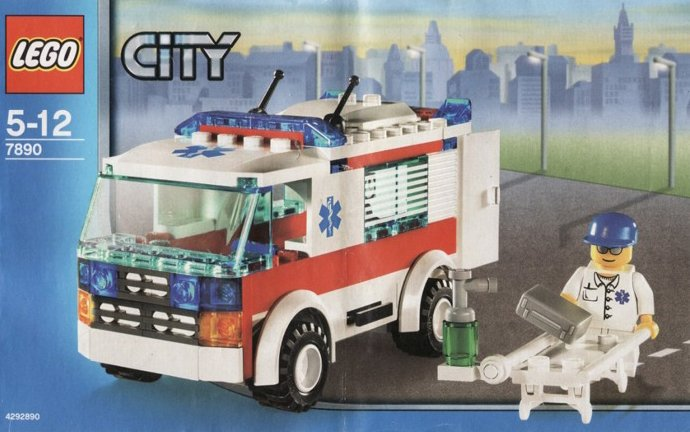 lego city ambulance 118 pieces of lego blocks lego-city-ambulance