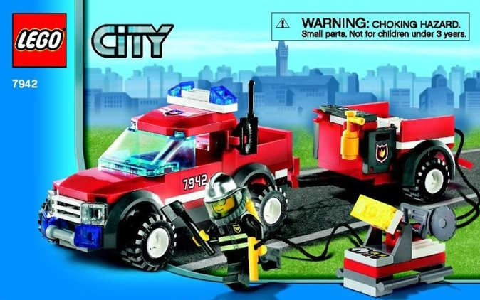 lego city fire pick-up truck 131 pieces of lego blocks lego-city-fire-pickup-truck