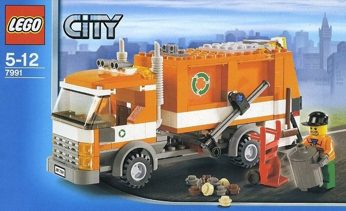 lego city garbage truck 206 pieces of lego blocks lego-city-garbage-truck
