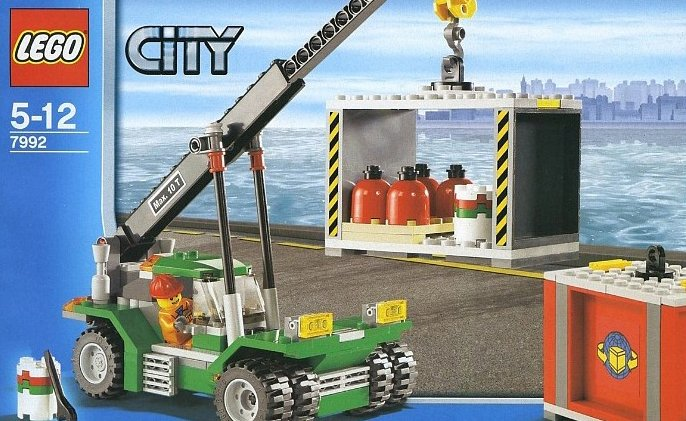 lego city harbor ship container stacker 218 pieces of lego blocks lego-city-container-stacker