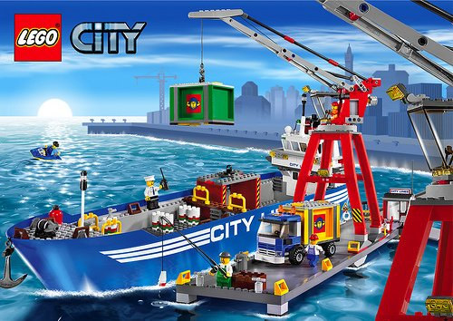lego city harbor 661 pieces of lego blocks lego-city-harbor