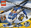 lego creator cargo copter helicoper 272 pieces of lego blocks