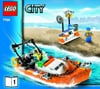 lego city police coast guard truck and speed boat 361 pieces of lego blocks