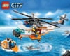 lego city police coast guard helicopter and raft 445 pieces of lego blocks
