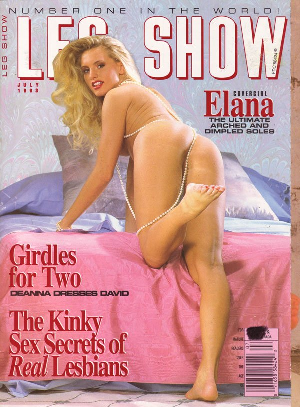 Dare once Leg show magazine models down!