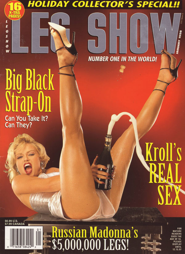 Leg Show January 1998 magazine back issue Leg Show magizine back copy leg show foot pics magazine leg show hot naked girls nude photos xxx explicit 98 holiday collectors