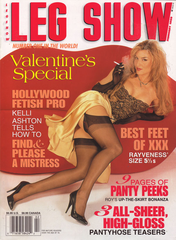Leg Show February 1999 magazine back issue Leg Show magizine back copy legshow mag porn kelli ashton nude hot naked mag girls foot toe heel fetish porn pron xxx sex feet