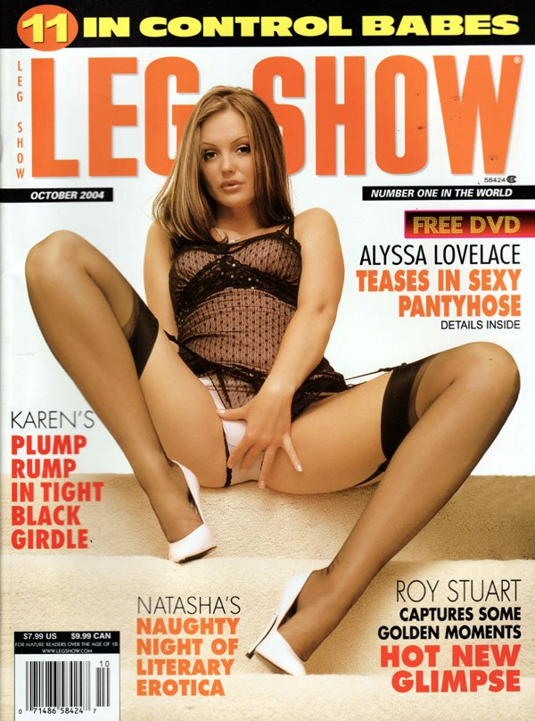 Leg Show October 2004 magazine back issue Leg Show magizine back copy legshow october2004, naughty night, literary erotica, sexy pantyhose, leg show backissues 2004, back