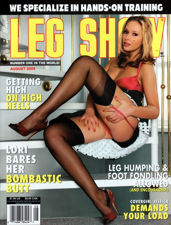Leg show magazine models are