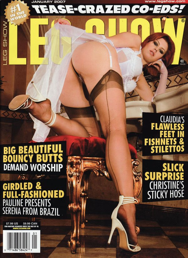 Leg Show January 2007 magazine back issue Leg Show magizine back copy leg show magazine, tease-crazed co-eds, hot sexy girls, hot xxx photos, sexy fetish feet mag, bouncy