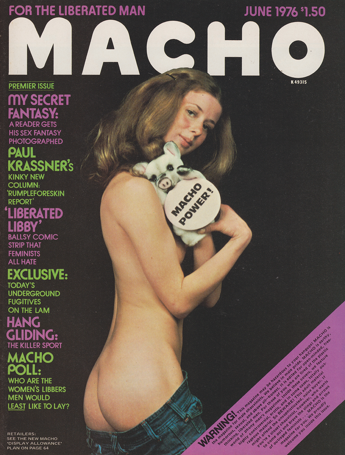 Macho June 1976 magazine back issue Macho by Year magizine back copy