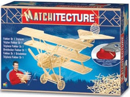 fokker triplane DR1 german fighter plane three dimension jigsaw puzzle replica matchstickpuzzle fokkerdr1triplane
