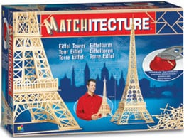 eiffeltower match stick 3d jigsawpuzzle matchitecture bjtoys microbeams glue tweezers included eiffeltowermatchstick