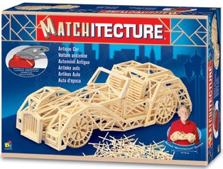 3d jigsaw puzzle made of matchsticks antqiue car 3 dimensional antiquecar model puzzle 1150 pieces antique-car-matchstick-puzzle