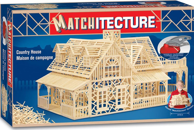 country house match stick 3d jigsawpuzzle matchitecture bjtoys microbeams glue tweezers included country-house-matchstick-puzzle